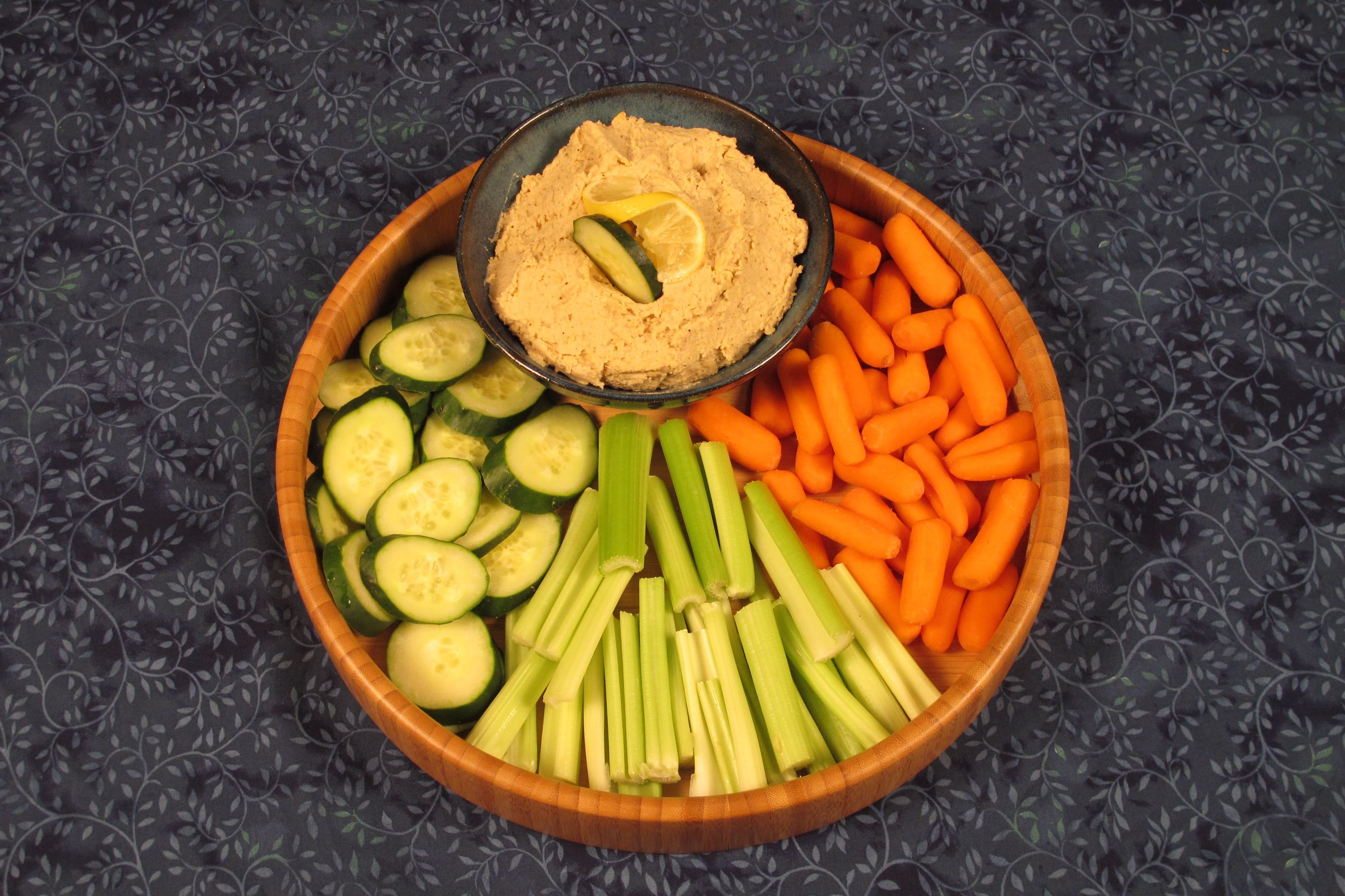 Slice or cut vegetables for dipping.